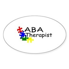 ABA Therapist Oval Decal