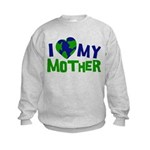 I Heart My Mother Earth Kids Sweatshirt