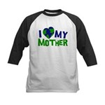 I Heart My Mother Earth Kids Baseball Jersey