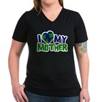 I Heart My Mother Earth Women's V-Neck Dark T-Shir
