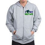 I Heart My Mother Earth Zip Hoodie
