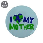 "I Heart My Mother Earth 3.5"" Button (10 pack)"