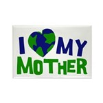 I Heart My Mother Earth Rectangle Magnet