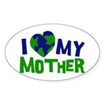 I Heart My Mother Earth Oval Sticker (50 pk)