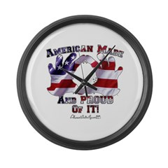 Hand Sign Flag Large Wall Clock