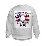 Hand Sign Flag Kids Sweatshirt