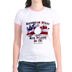 Hand Sign Flag Jr. Ringer T-Shirt