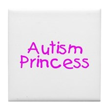 Autism Princess Tile Coaster