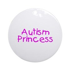 Autism Princess Ornament (Round)
