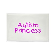 Autism Princess Rectangle Magnet