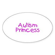 Autism Princess Oval Decal