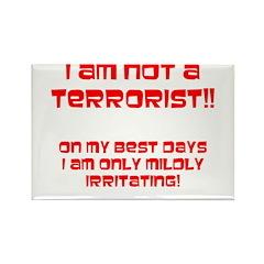 I am NOT a terrorist! Rectangle Magnet (10 pack)