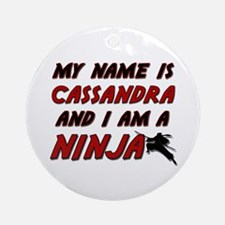 my name is cassandra and i am a ninja Ornament (Ro