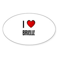 I LOVE BRIELLE Oval Decal