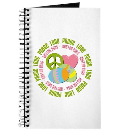 Peace Love Easter Eggs Journal