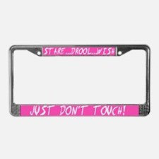 Stare, Drool, Wish Humor License Plate Frame