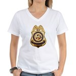 BIA Police Officer Women's V-Neck T-Shirt