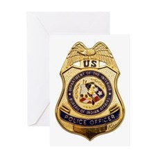 BIA Police Officer Greeting Card