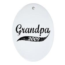 New Grandpa 2009 Oval Ornament