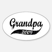New Grandpa 2009 Oval Decal