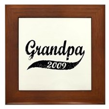 New Grandpa 2009 Framed Tile