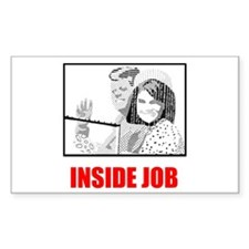 JFK: Inside Job Rectangle Decal
