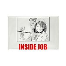 JFK: Inside Job Rectangle Magnet