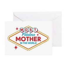 Las Vegas Fabulous Mom Greeting Card