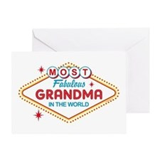 Las Vegas Fabulous Grandma Greeting Card