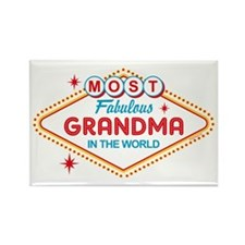 Las Vegas Fabulous Grandma Rectangle Magnet