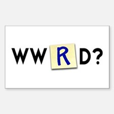 What Would Rube Do? Rectangle Decal