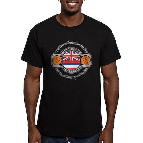Hawaii Basketball Men's Fitted T-Shirt (dark)