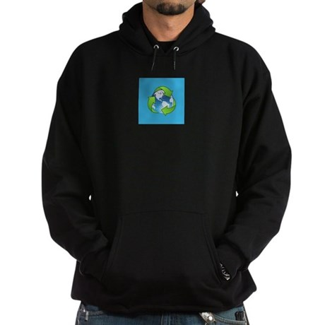 Recycle Logo Earth Day Globe Hoodie (dark)