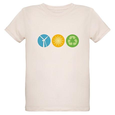 Wind, Solar, Recycle Organic Kids T-Shirt