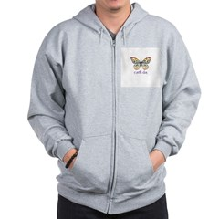 Earth Day - Butterfly Zip Hoodie