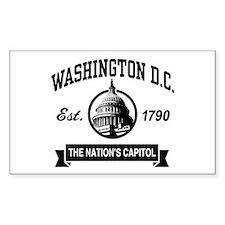 Washington DC Rectangle Decal