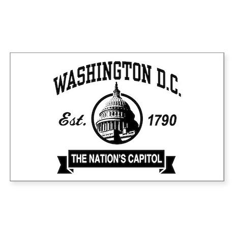 Washington DC Rectangle Sticker