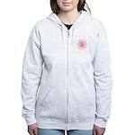 Pink Ribbon -Circle II Women's Zip Hoodie