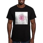 Pink Ribbon -Circle II Men's Fitted T-Shirt (dark)