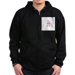 Breast Cancer Awareness: I we Zip Hoodie (dark)