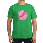 Pink Ribbon Breast Cancer Awa Men's Fitted T-Shirt