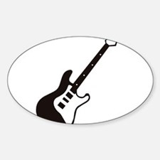 GUITAR (8) Oval Decal