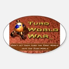 Turd World War Oval Decal