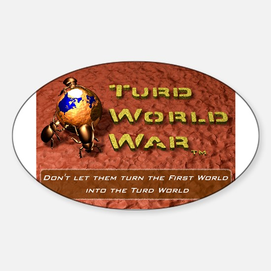 Turd World War Oval Decal