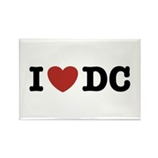 I Love DC Rectangle Magnet