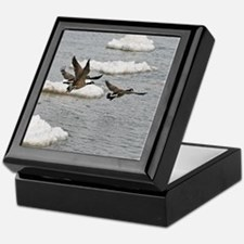 Flying Canadian Geese Keepsake Box