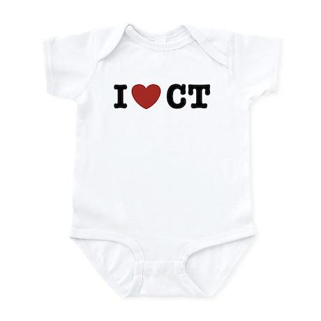 I Love CT Infant Bodysuit