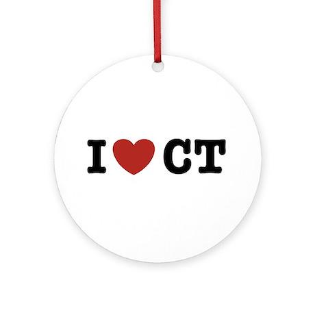 I Love CT Ornament (Round)