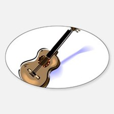 GUITAR (13) Oval Decal