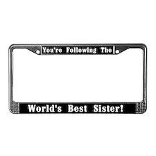 World's Best Sister License Plate Frame